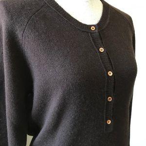 J. Crew Henley Cashmere Sweater